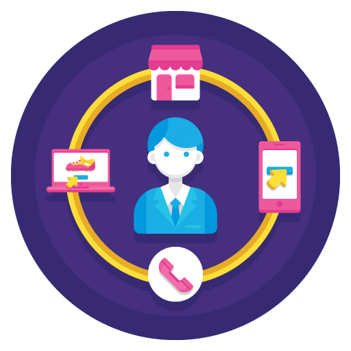 Illustration of Omnichannel eCommerce trend marketing