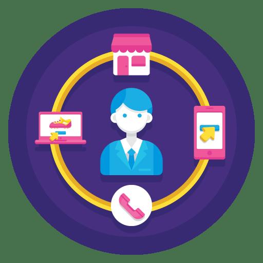 Omnichannel marketing illustration.