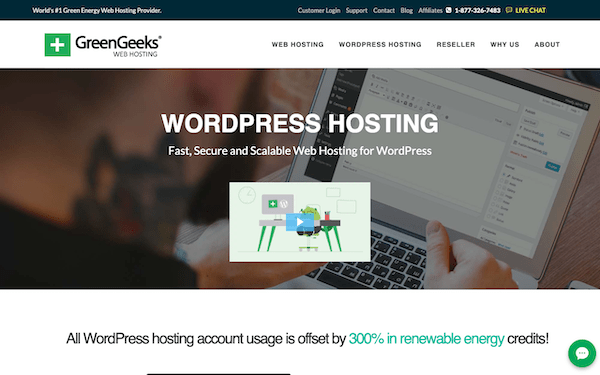 Green Geeks are a great example of a green hosting company