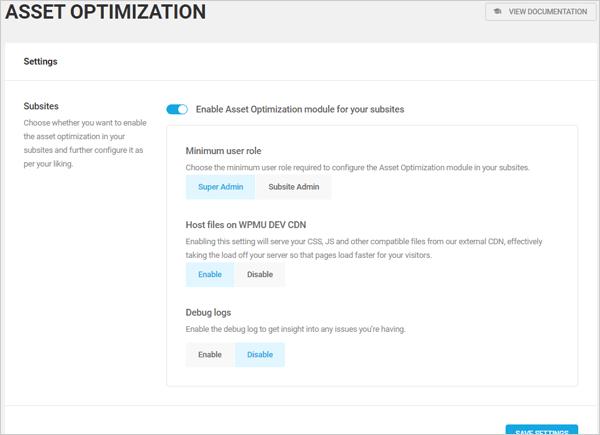 Humminbird Asset Optimization screen.