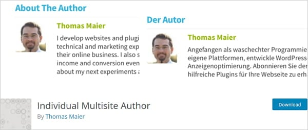 Individual Multisite Author WordPress plugin.