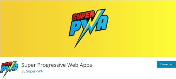 Super PWA WordPress plugin.