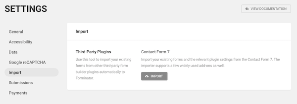 Forminator makes migrating Contact Form 7 data a breeze