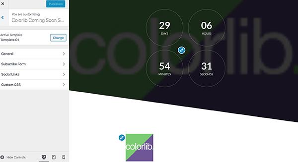 ColorLib customization area.