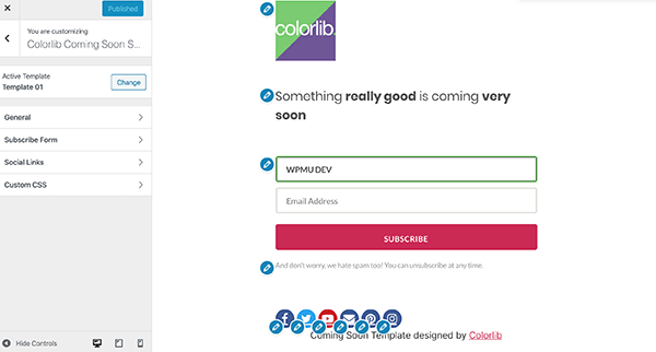 ColorLib sign-up form.