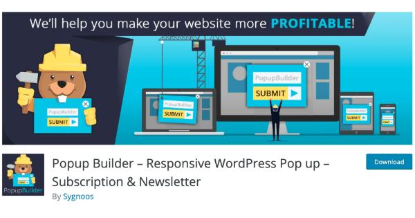 Pop-up builder WordPress website