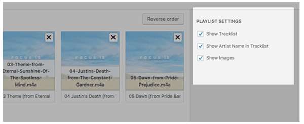 Adjusting audio playlist in WordPress.