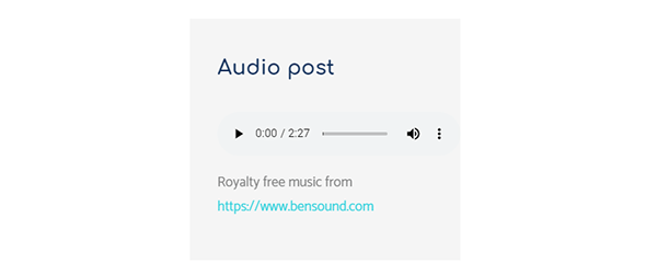 Example of an audio post using the theme arcanum