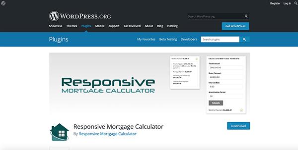 Responsive Mortgage Calculator.