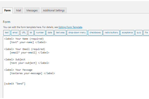 Showing where you add the code to create fields.