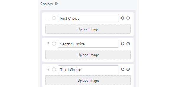 Showing the option to add images to a poll.