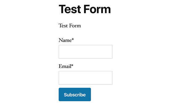 Icegram test form.