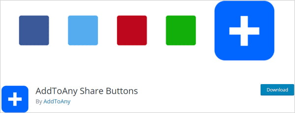 AddToAny Share Buttons social plugin for WordPress.