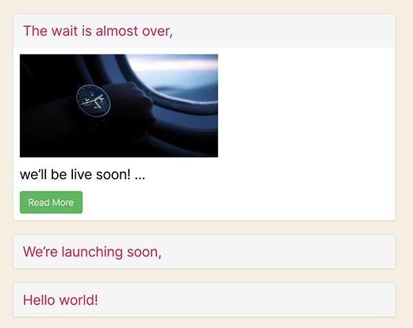 Content Views preview.