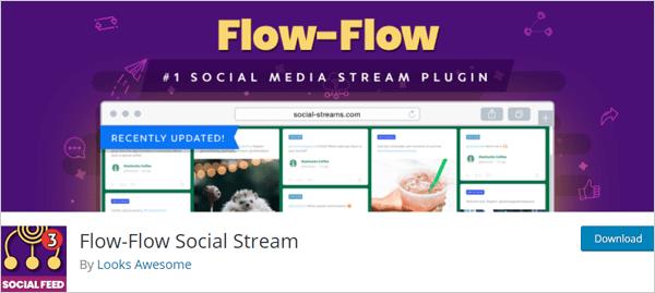 Flow-Flow social stream plugin for WordPress.