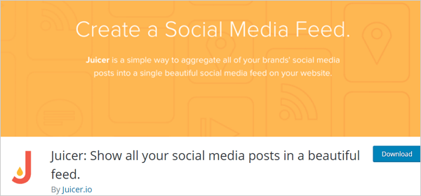 Juicer social feeds plugin.