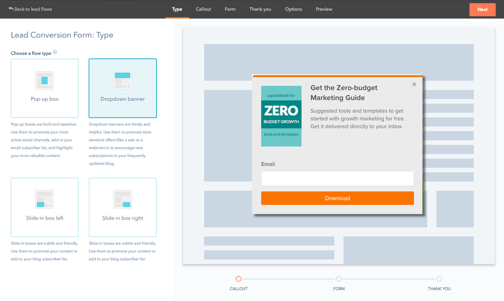 HubSpot form templates