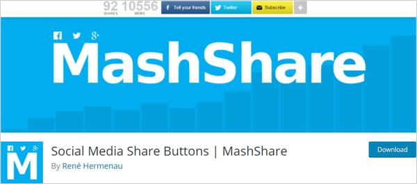 MashShare Social Media Share Buttons plugin for WordPress.