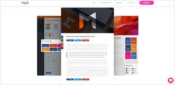 Monarch social media sharing plugin for WordPress