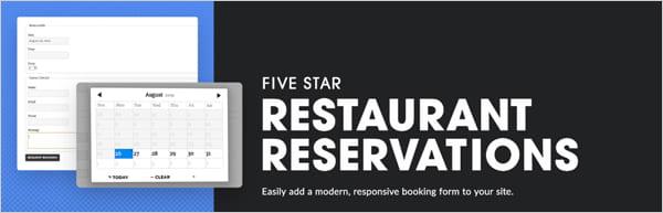 Restaurant Reservations plugin for WordPress
