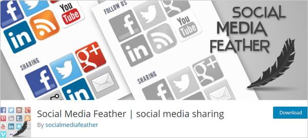 Social Media Feather social media sharing plugin for WordPress.