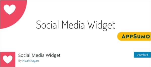 Social Media Widget plugin for WordPress.