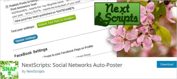 NextScripts: Social Networks Auto-Poster WordPress plugin