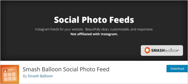 Smash Balloon Social Photo Feed plugin for WordPress
