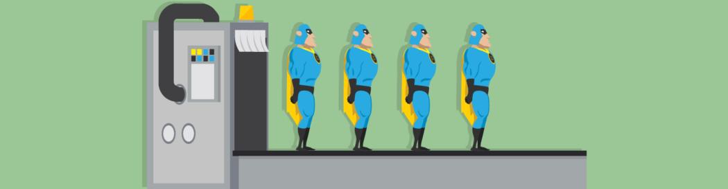Dev man being cloned