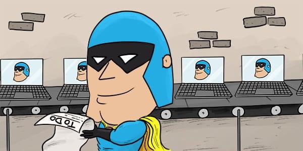 Cartoon - Dev Man To-Do List