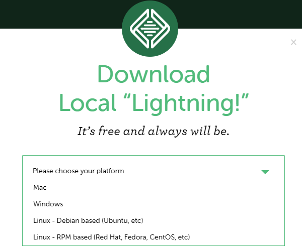 Screenshot of the Local website