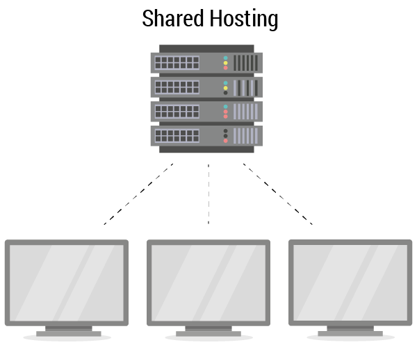 Showing the link between the server and the pcs