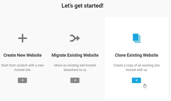 Clone Existing Website