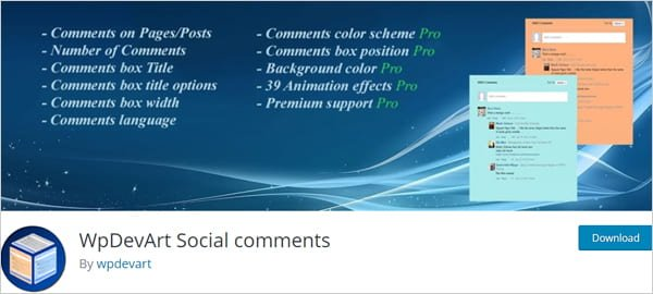WPDevArt Social Comments WordPress plugin.
