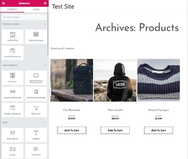 Archives products.