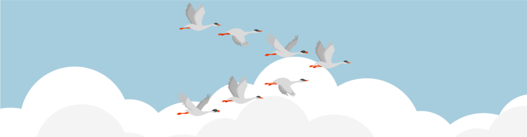 Image depicting migrating geese