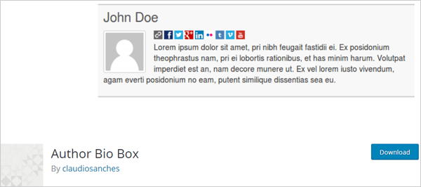 , 9 Top Free WordPress Author Bio Box Plugins, Rojak WP