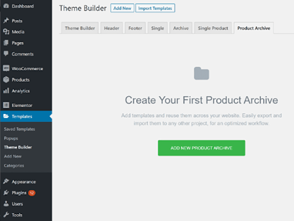 Theme builder template.