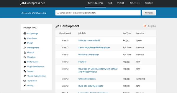 WordPress Jobs board.