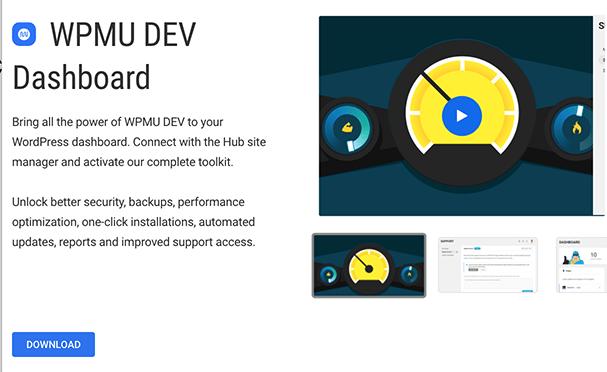 WPMU DEV Dashboard plugin download.