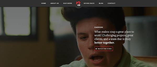 10up homepage.