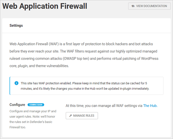 Defender Web Application Firewall