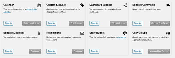 A look at the Edit Flow dashboard and all of the options.