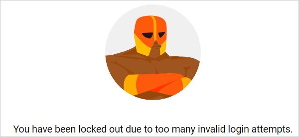 Customizable login lockout message.