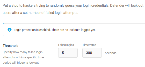 Login lockout threshold