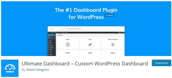 Screenshot of ultimate dashboard from wordpress.org