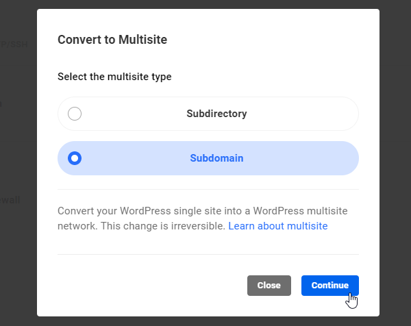 Convert Multisite to Subdomain