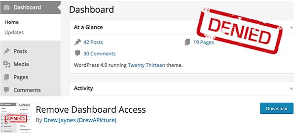 Remove Dashboard Access.
