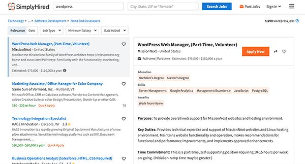 Finding WordPress Work with Your Developer Skills